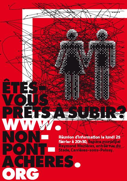 réunion info non pont Achères 25/02/2015