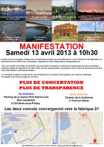 Soutien Port Saint Louis _ affiche de la manifestation du 13-04-2013
